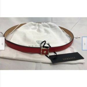 Authentic NWT Versace Womens Belt Red 90 36